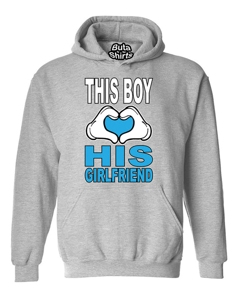 This Boy Loves His Girlfriend Couples Valentine's Day Gift Unisex Hoodie