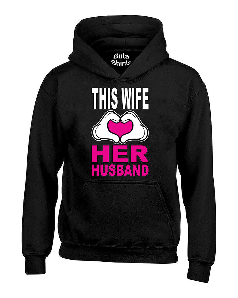 This Wife Loves His Girlfriend Couples Valentine's Day Gift Unisex Hoodie