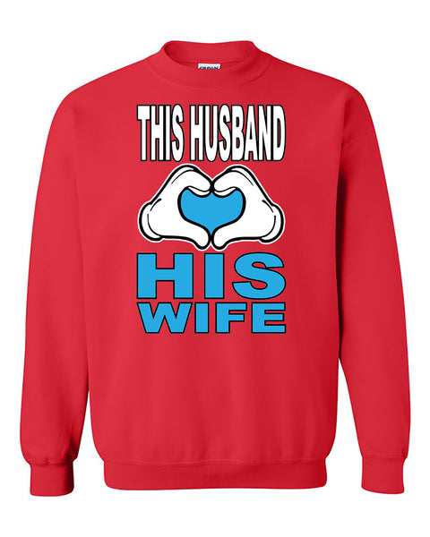 This Husband Loves His Girlfriend Couples Valentine's Day Gift Crewneck Sweater