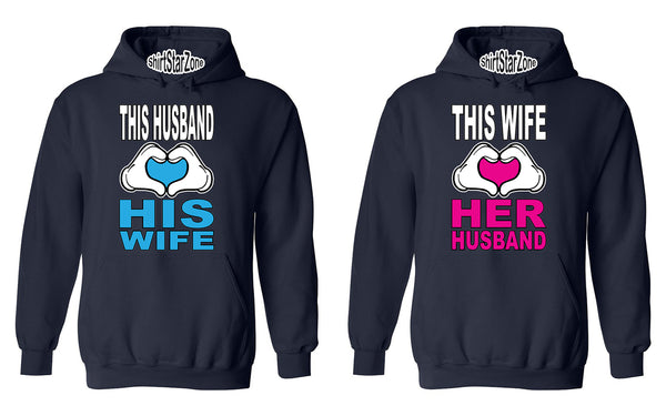 This Husband Loves His Wife - This Wife Loves Her Husband Couples Unisex Hoodies