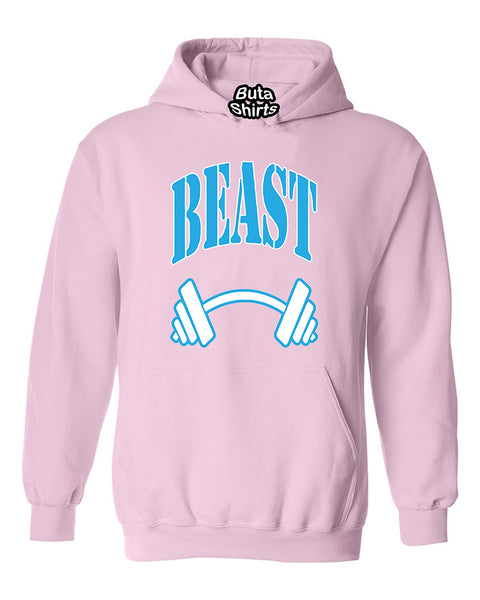 Beast BLUE Couples GYM Workouts Valentine's Day Gift Unisex Hoodie