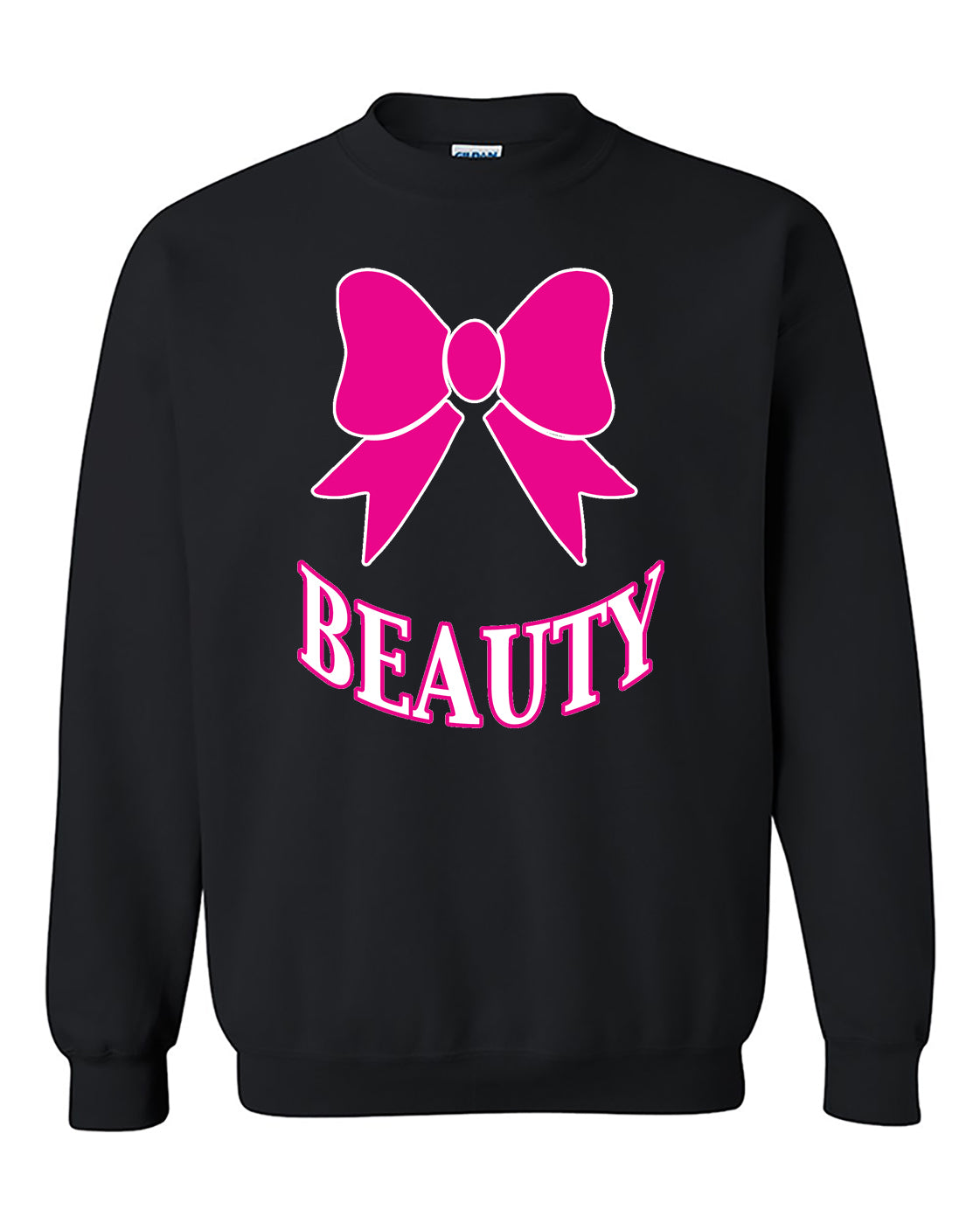 Beauty PINK Couples GYM Workouts Valentine's Day Gift Crewneck Sweater