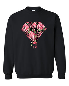 Bleeding Dripping Flower Diamond Diamond Flower Crewneck Sweater