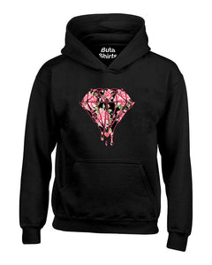 Bleeding Dripping Flower Diamond Diamond Flower Unisex Hoodie