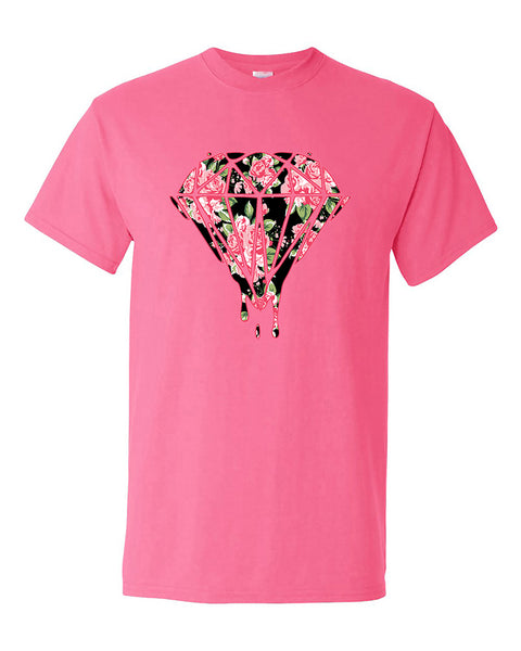 bleeding-dripping-flower-diamond-diamond-flower-t-shirt