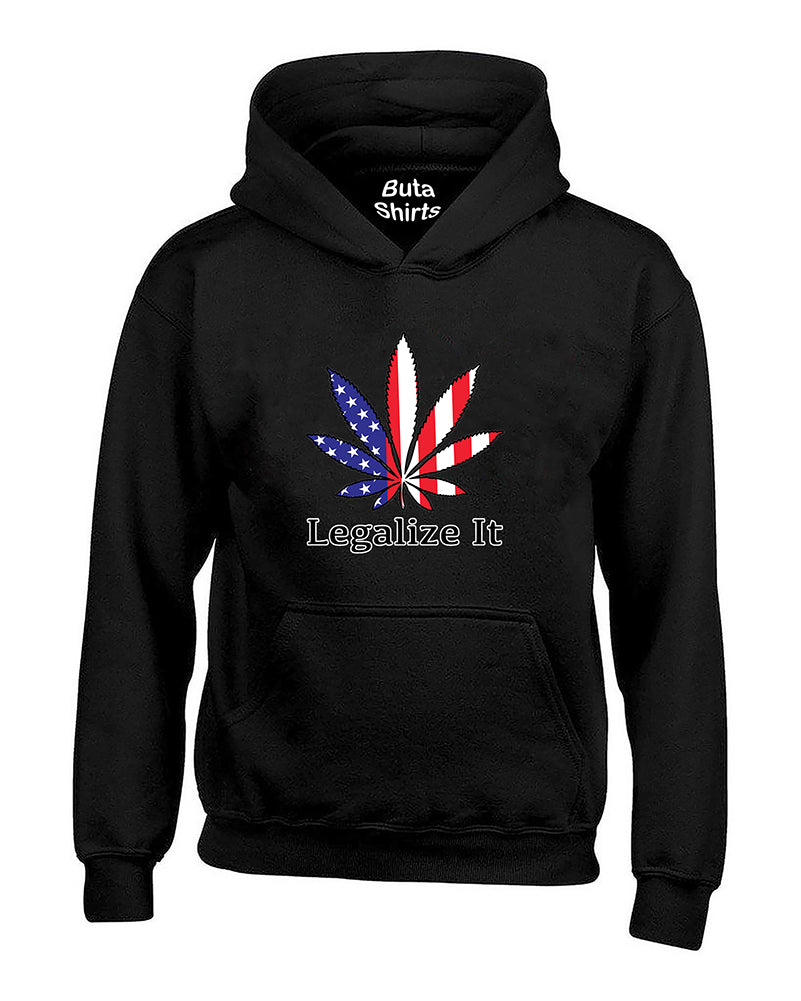 Legalize It Marijuana Leaf 420 Weed Smoking Pot Leaf Weed Leaf Unisex Hoodie