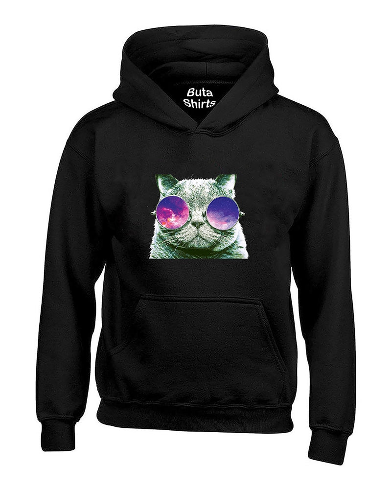 Cool Cat face with Sunglasses Animal Lover Unisex Hoodie