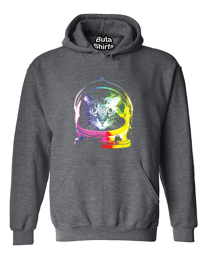 d22c39b75 Space Cat astronaut rainbow helmet Nasa USA Unisex Hoodie – Buta ...