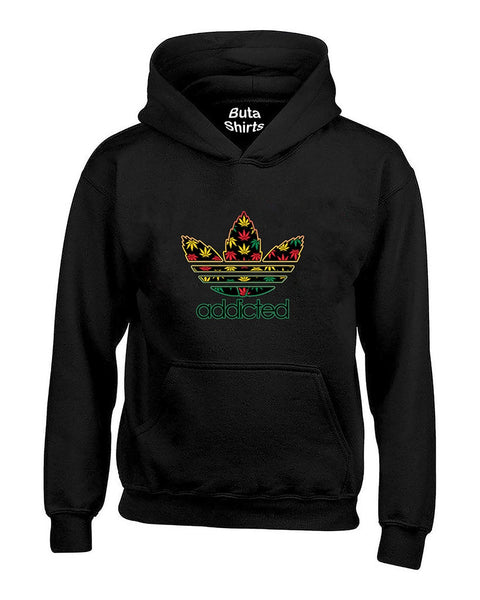 Addicted Weed Leaf pattern 420 Marijuana smokers Unisex Hoodie