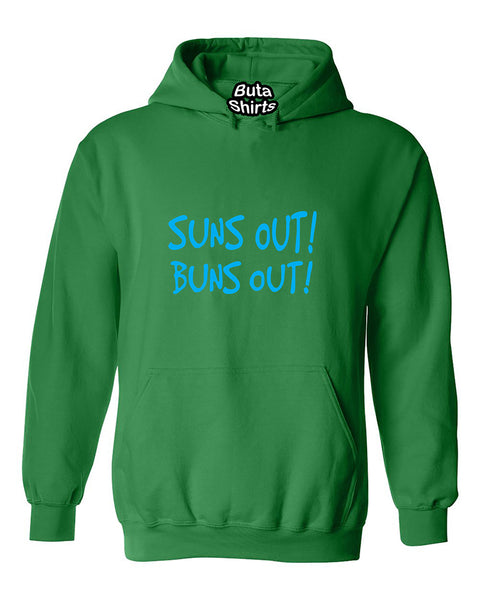 Suns Out Buns Out Funny Fitness Gym Workout Unisex Hoodie