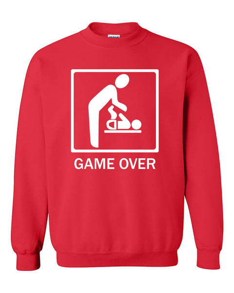 Game Over New Baby for Parent Funny Crewneck Sweater