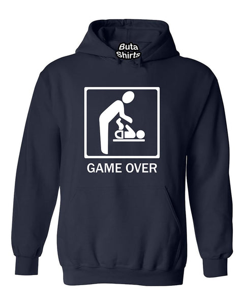 Game Over New Baby for Parent Funny Unisex Hoodie
