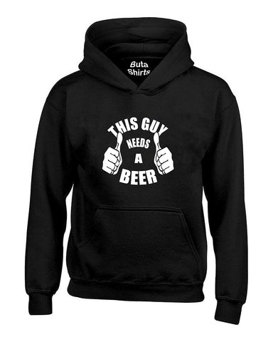This Guy Needs A Beer Alcohol Cocktail Funny Drinking Paty Unisex Hoodie