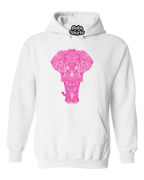 Sugar Skull Elephant Cool Animal Lover Unisex Hoodie