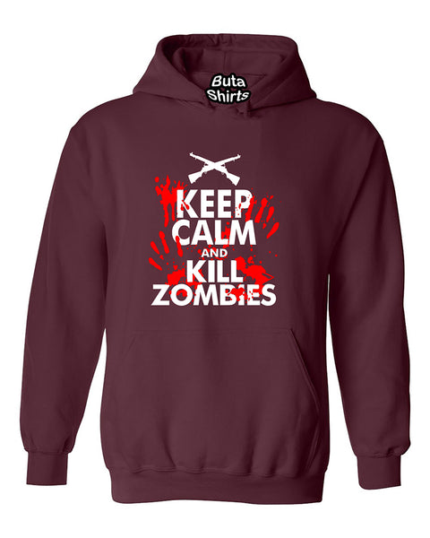 Keep Calm And Kill Zombies Funny Unisex Hoodie