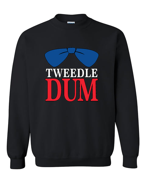 Tweedle Dum RED Funny Couples Valentine's Day Gift Crewneck Sweater