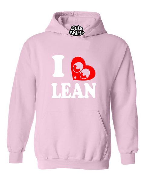 I love Lean I hearth Lean Unisex Hoodie