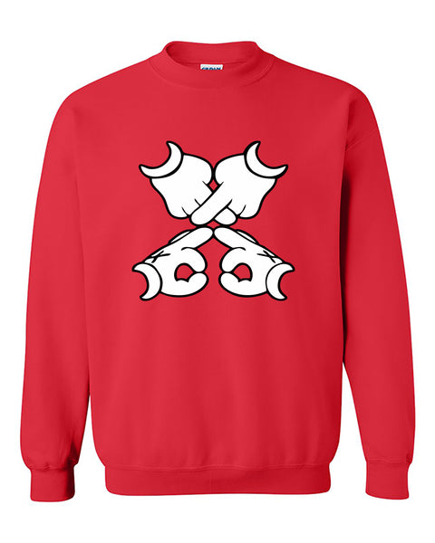 XO Mickey Hands Crewneck Sweater