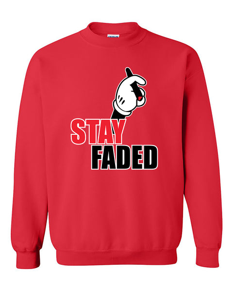 Mickey Hands Stay Faded Hoodie Mickey Hand Smoking Cigarette Kush Crewneck Sweater