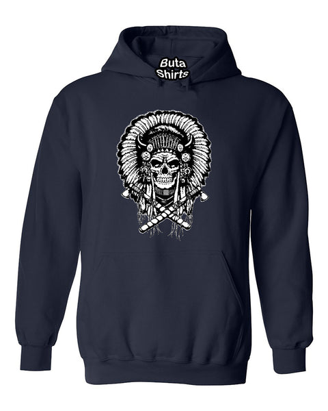 Native American Indian Chief Skull Unisex Hoodie