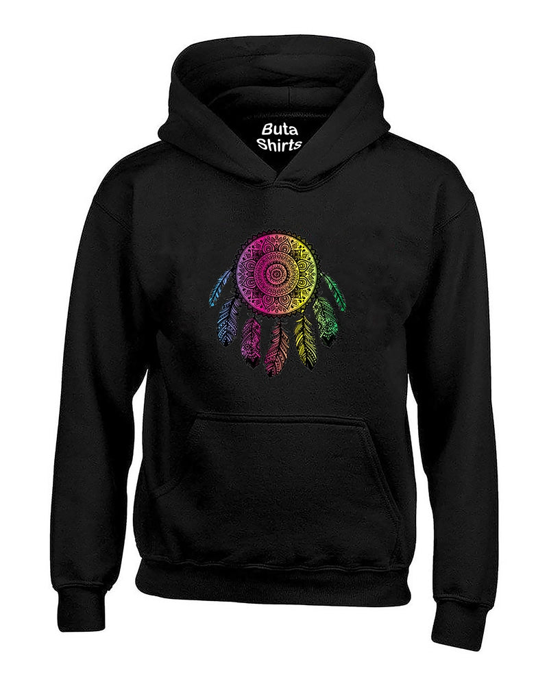 Colored Dream Catcher Feathers Native American Indian Unisex Hoodie