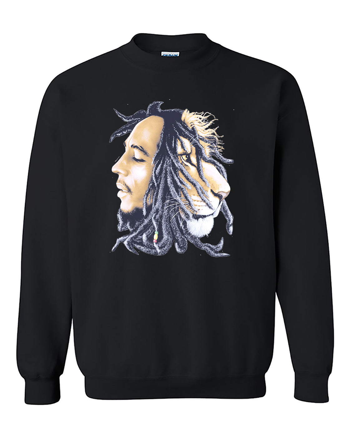 Bob Marley - Lion Rasta Hair  Crewneck Sweater