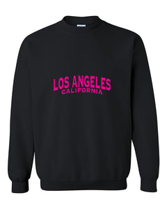 Los Angeles Pink Unisex Fasion California Crewneck Sweater