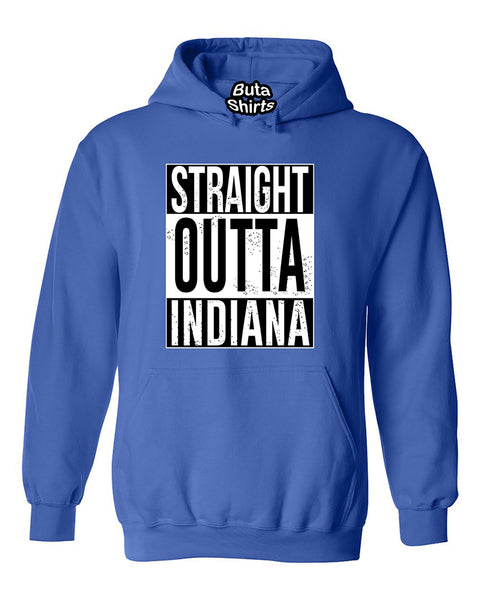 Straight Outta Indiana Fashions Unisex Hoodie