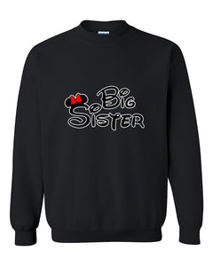 Disney Writing Minnie mouse Big Sister Fahions Crewneck Sweater