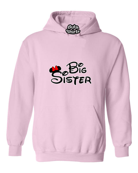 Cartoon Writing Big Sister Fahions Unisex Hoodie