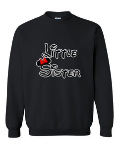 Cartoon Writing Little Sister Fahions Crewneck Sweater