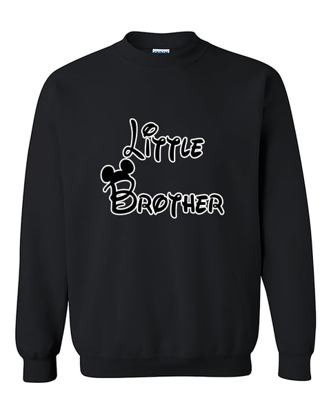 Cartoon Writing Little Brother Fahions Crewneck Sweater