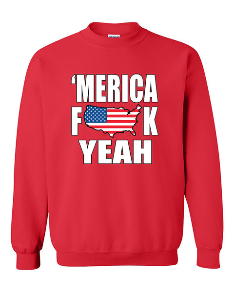MERICA F*CK YEAH 4th of July Party Independence days Crewneck Sweater