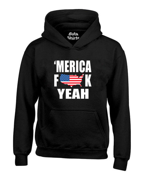 MERICA F*CK YEAH 4th of July Party Independence days Unisex Hoodie
