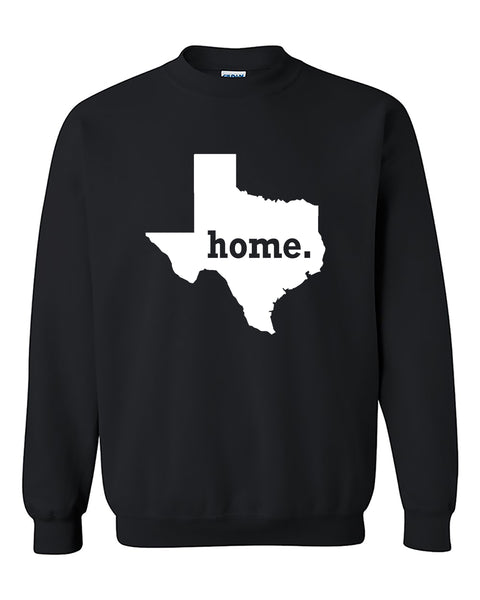 Texas Map Home State Native American Crewneck Sweater