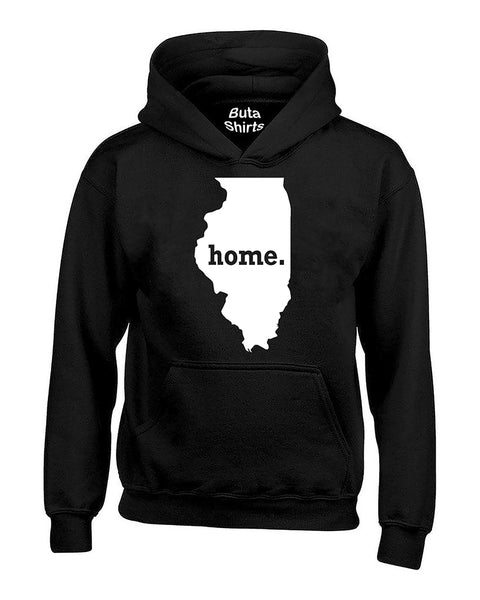 Illinois Map Home State Native American Unisex Hoodie