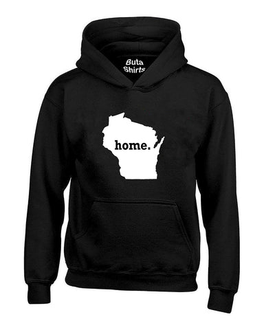 Wisconsin Map Home State Native American Unisex Hoodie