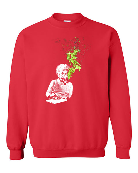 Albert Einstein Smoking Smokers Funny Crewneck Sweater