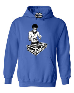 DJ Bruce Lee Kungfu Legend Party Funny Humours Unisex Hoodie