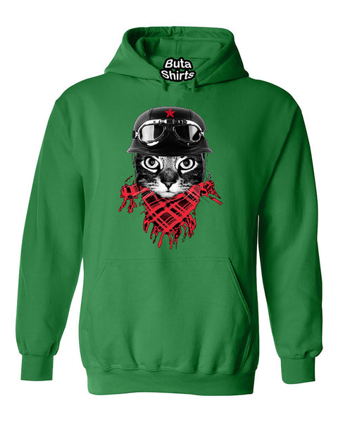 Adventurer Cat Motorcycle Biker Retro Cute Unisex Hoodie