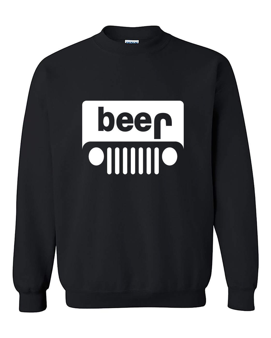 Beer Jeep Funny Drinking Drinking Partys Crewneck Sweater