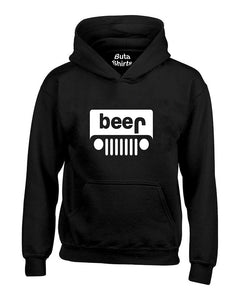 Beer Jeep Funny Drinking Drinking Partys Unisex Hoodie Buta Clothing - Jeep logo t shirt