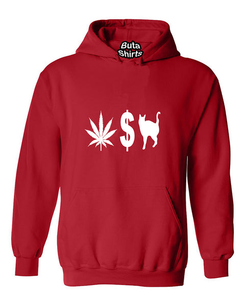 Pussy Money Weed Funny Partys Unisex Hoodie