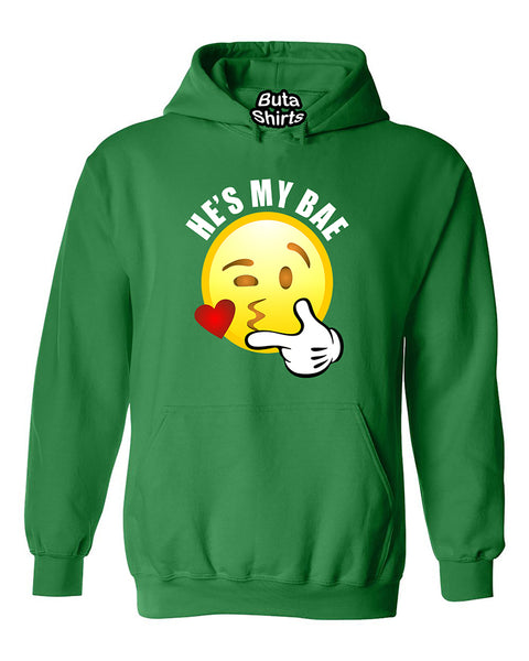 He's My Bae Emoji Couples Loves Valentine's Day Gift Unisex Hoodie