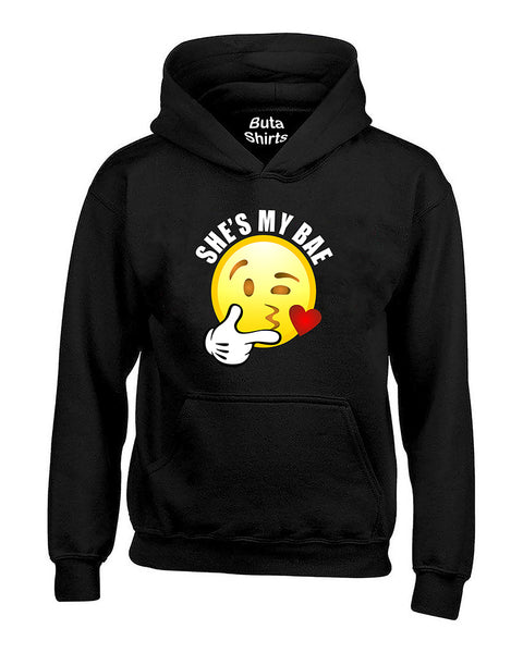 She's My Bae Emoji Couples Loves Valentine's Day Gift Unisex Hoodie