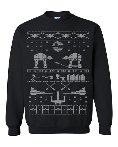 New STAR WARS Inspired ugly Christmas Sweater, Xmas Sweater, Christmas party, Christmas Holiday gift  Crewneck Sweater