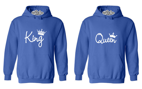 KING and QUEEN Fasion Couples Unisex Hoodies