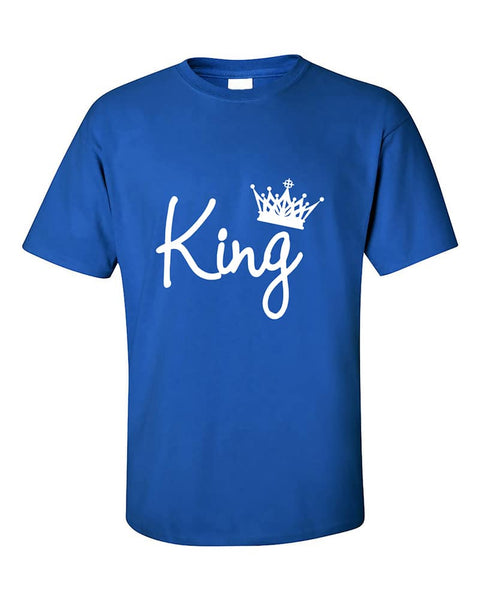 king-hand-script-couples-matching-fasion-valentines-day-gift-t-shirt
