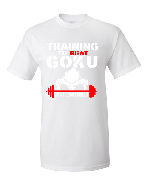 training-to-beat-goku-or-at-least-krillin-funny-fitness-gym-t-shirt