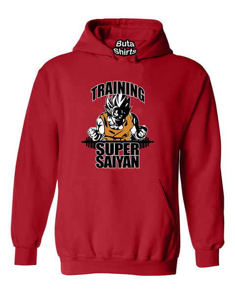 Training To Go Super Saiyan Funny Fitness Gym Workout Unisex Hoodie